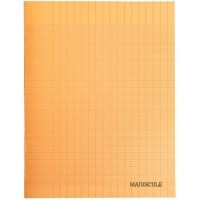 Cahier piqure 48 pages - 24x32cm - seyes 90g - Couverture polypropylene orange