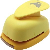 Perforateur déco 38mm chat jaune