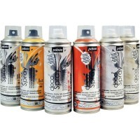 Spray 200ml de peinture acrylique - Lot de 6