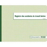 Registre des Accidents du travail bénins 24x32 cm, à l'italienne