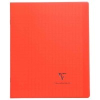 Koverbook - Cahier Clairefontaine - piqure 17x22 - 96 pages - seyes 90g - Couverture en polypropylene rouge