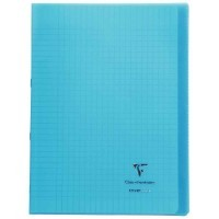Koverbook - Cahier Clairefontaine - piqure 21x29.7 - 96 pages - seyes 90g - Couverture en polypropylene bleu