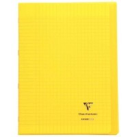 Koverbook - Cahier Clairefontaine - piqure 21x29.7 - 96 pages - seyes 90g - Couverture en polypropylene jaune