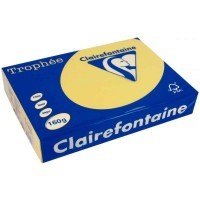 Ramette papier couleur Clairefontaine A4 160g - Bouton or