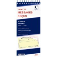 Carnet Lebon & Vernay message recu autocopiant - 160 messages