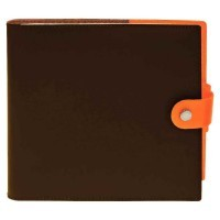 654105Q - Agenda sienna 16x16 chocolat /orange