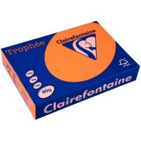 Ramette papier couleur Clairefontaine A4 80g - Orange fluo