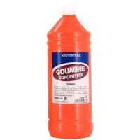 Gouache liquide superieur orange - Flacon de 1L
