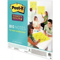 Big notes sticky format 55,8 x 55,8 cm coloris vert - Bloc de 30 feuilles