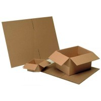 Cartons d'emballage - Simple cannelure - 200x200x110 - 10kg - Paquet de 20