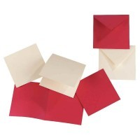 Carte double 160x160 bulle - Paquet de 25