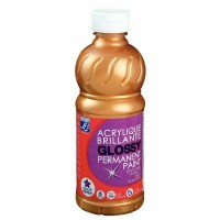 Peinture acrylique Lefranc & Bourgeois brillante glossy or - flacon 500ml