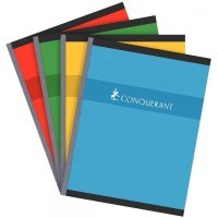 Cahier brochures Conquerant grand carreaux 17x22 192p 70g