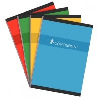 Cahier brochures Conquerant grand carreaux A4 192p 70g
