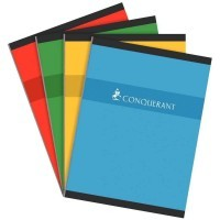 Cahier brochures Conquerant grand carreaux 24x32 192p 70g