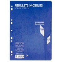 Feuille simple blanche Clairefontaine A4 grand carreaux 80g - sachet de 50