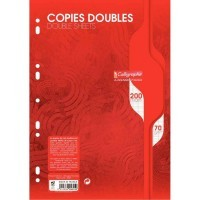 Copie double blanche Clairefontaine A4 grand carreaux 70g perforee - sachet de 50