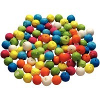 Boule cellulose diam 18mm assorti - sachet de 100