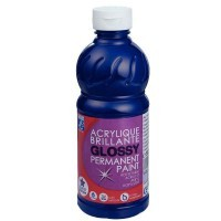 Peinture acrylique Lefranc & Bourgeois glossy outremer - flacon 500ml