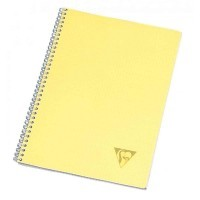 Cahier spirales Clairefontaine grand carreaux A4 100p linicolor