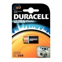 Pile lithim 3v 123 Duracell ultra photo - Blister de 1