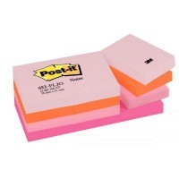 Post it repositionnable floral 38x51 assortis - Lot de 12 blocs