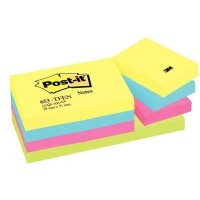 Post it repositionnable energie 38x51 assorti - Lot de 12