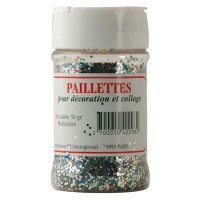 Paillette scintillante assorti - pot de 50g
