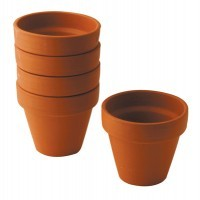 Pot terre cuite d9cm - Lot de 5