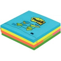 Bloc post it repositionnable 76x76mm + notes marker