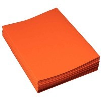 Chemises dossiers super 210g 24x32 orange - Paquet de 100