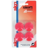 Punaise magnetique d32  rouge - Blister de 4