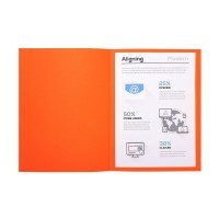 Chemises dossiers 220g 24x32 orange - Paquet de 100