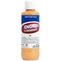 Encre à dessiner or - Flacon de 250ml