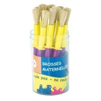 Brosse medium + colerette - pot de 14