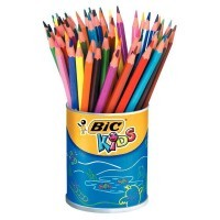 Crayon de couleur evolution assorti - pot de 60