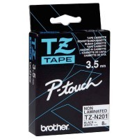 Ruban Brother tz n-201 noir/blanc 3.5mm