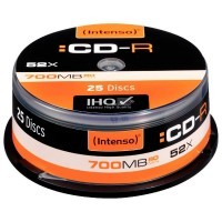 CD-R Intenso 700Mo 80mn - Lot de 25