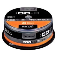 CD-R Intenso 700Mo 52x printable - Lot de 25
