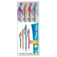 Stylo bille Flexgrip Elite FUN assortis - Pochette de 4