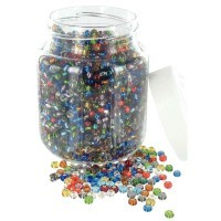 Perles cassis (roc 5°) metal brillant - bocal de 500g