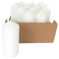 Bougies blanche a decorer - Lot de 12