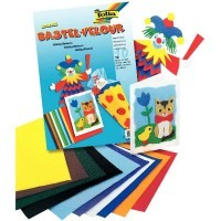 Papiers velours 50x35cm, couloris assortis - Paquet de 10