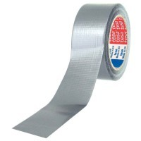 Rouleau toile adhesive plastifiee multi usage 25mx50mm gris