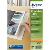 Onglet Avery adhesif repositionnable et imprimable - Lot de 4 planches