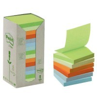 Tour distributrice de 16 blocs post it recycles 76x76mm pastel