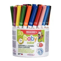 Feutres baby color pointe moyenne - pot de 50