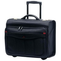 Pilot case en nylon trolley noir