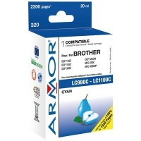 Cartouche compatible Brother lc980/1100 cyan