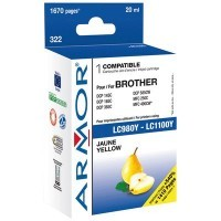 Cartouche compatible Brother lc980/1100 jaune